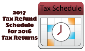 2017 Tax Schedule for 2016 IRS Tax Refunds